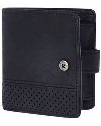 River Island Black Perforated Panel Wallet - Lyst
