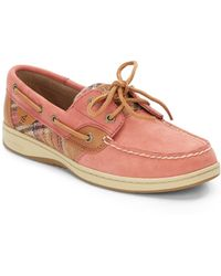 Sperry Bluefish 2eye Plaid Boat Shoes - Lyst