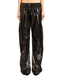Paco Rabanne New Season - Womens Shiny Stripe Pants - Lyst