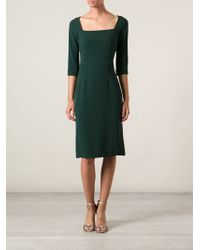 Dolce & Gabbana Three Quarter Sleeve Dress - Lyst