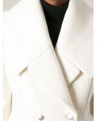Alexander McQueen Double Breasted Coat - Lyst
