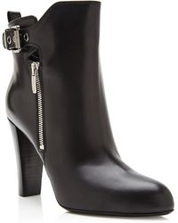 Sergio Rossi Dalston Leather Ankle Boots - Lyst