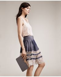 Ann Taylor Petite Lace Swing Skirt blue - Lyst