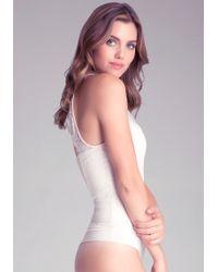 Bebe Lace Mock Neck Bodysuit - Lyst