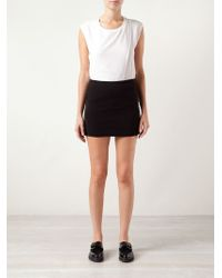Getting Back to Square One - Fitted Skirt - Lyst