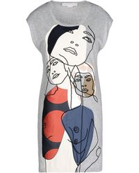 Stella McCartney Appliqué Long T-Shirt - Lyst