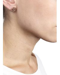 Marc By Marc Jacobs - Rose Gold Tone Stud Earrings - Lyst