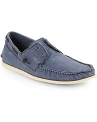 John Varvatos Schooner Canvas Boat Shoes - Lyst