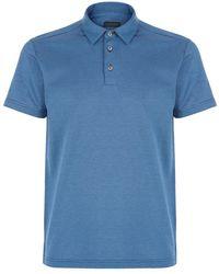 Z Zegna Birdseye Dot Polo Shirt - Lyst