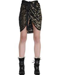 Isabel Marant Sequined Silk Crepe De Chine Skirt - Lyst