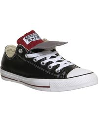 Converse All Star Low Double Tongue Leather - Lyst