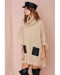Nasty Gal Day Tripper Turtleneck Poncho - Lyst