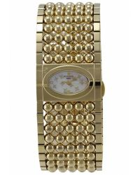 Rochas - Womens Pink Mother Of Pearl Dial Gold Tone Stainless Steel Watch - Lyst