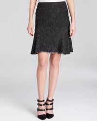 Elie Tahari Bonnie Tweed Skirt - Lyst