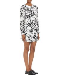 A.L.C. Brushstrokeprint Layered Dress - Lyst