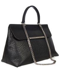 Jil Sander Lady J Leather Shoulder Bag - Lyst