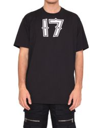 Givenchy Cotton T-Shirt With 17 Print - Lyst