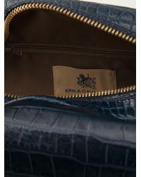 Erika Cavallini Semi Couture - Crocodile Effect Makeup Bag - Lyst