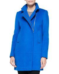 Diane von Furstenberg Asymmetric Zip-Front Walker Coat - Lyst