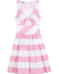 Moschino Cheap & Chic Stripe Bow Shift Dress - Lyst