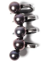 Maria Stern | Five Pearl Black Ear Cuff | Lyst