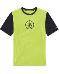 Volcom Colorblocked Short-Sleeve Upf Rashguard - Lyst