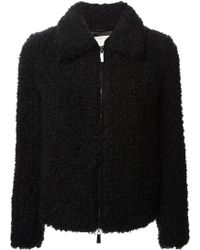 Pinko Black Cropped Jacket - Lyst