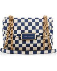 Marc By Marc Jacobs Rebel 24 Checkerboard-Print Shoulder Bag - Lyst