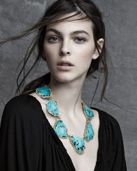 Pamela Huizenga - 18k Gold Turquoise Necklace With Diamonds - Lyst
