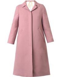 N°21 Single-Breasted Twill Coat - Lyst
