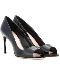 Miu Miu Patent Leather Pumps - Lyst