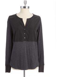 Calvin Klein Jeans Slub Knit Colorblock Henley - Lyst