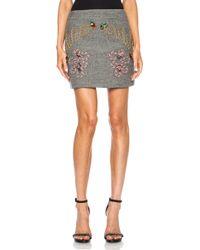 Stella McCartney Fiona Mini Wool Blend Skirt - Lyst