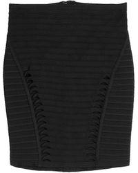 Hervé Léger Bandage Skirt With Cutouts - Lyst