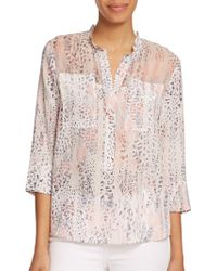 Rebecca Taylor Printed Silk Blouse animal - Lyst