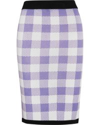 Sister by Sibling - Gingham Knitted Pencil Skirt - Lyst