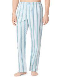 Calvin Klein Stripe Pajama Pants - Lyst