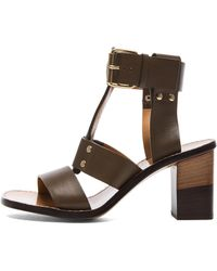 Chloé Gladiator Leather Heels - Lyst