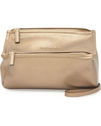 Givenchy Pandora Mini Metallic Crossbody Bag - Lyst