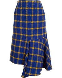 Marni Check Wool Skirt - Lyst