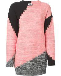 Sonia By Sonia Rykiel Contrast Sweater - Lyst