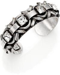 DANNIJO Archer Crystal Cuff Bracelet - Lyst