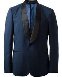 Alexander McQueen Blue Tuxedo Blazer - Lyst
