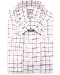 Ike Behar - Windowpane Woven Dress Shirt - Lyst
