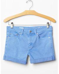 Gap 1969 Slim Denim Shorts blue - Lyst