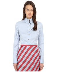 Vivienne Westwood Red Label Classic Krall Shirting blue - Lyst