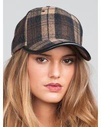 San Diego Hat Company Plaid Baseball Hat brown - Lyst