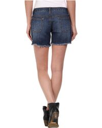 Stetson - Denim Short W/ Printed Side Panels - Lyst
