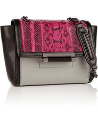 Diane Von Furstenberg Mini 440 Leather and Elaphe Shoulder Bag - Lyst
