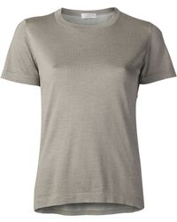 Brunello Cucinelli Embellished Side Tshirt - Lyst